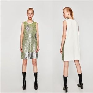 Zara | Sequin Mini Dress with Overlay